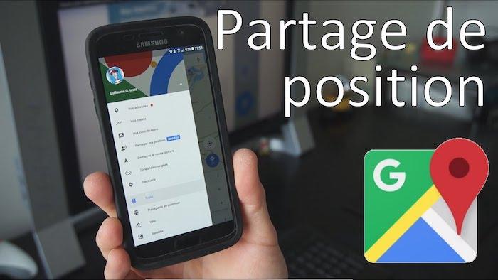 Partage de position Google Maps