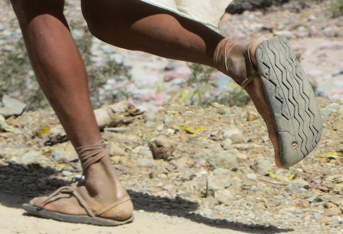 Born To Run : les huaraches (sandales)